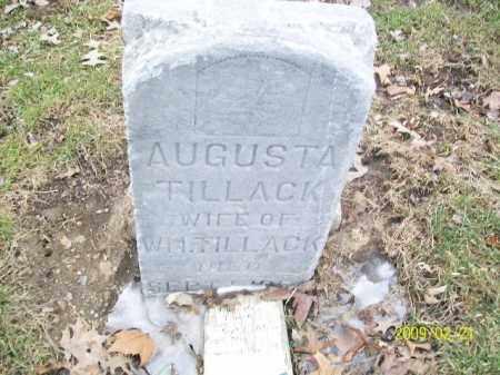 TILLACK, AUGUSTA - Lorain County, Ohio | AUGUSTA TILLACK - Ohio Gravestone Photos
