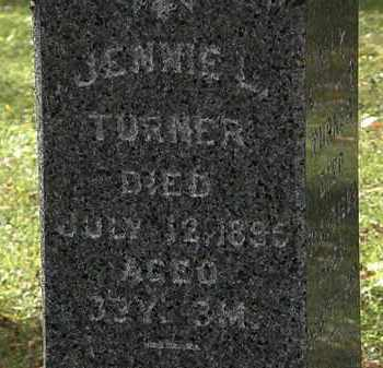 TURNER, JENNIE L. - Lorain County, Ohio | JENNIE L. TURNER - Ohio Gravestone Photos