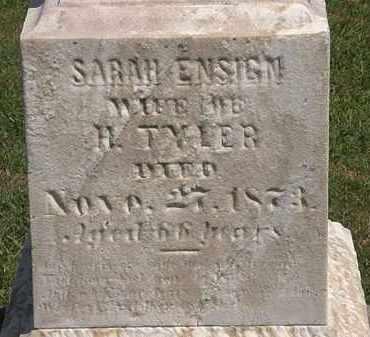 ENSIGN TYLER, SARAH - Lorain County, Ohio | SARAH ENSIGN TYLER - Ohio Gravestone Photos