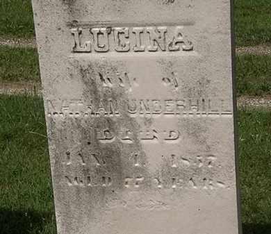 UNDERHILL, LUCINA - Lorain County, Ohio | LUCINA UNDERHILL - Ohio Gravestone Photos