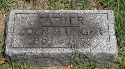 UNGER, JOHN M. - Lorain County, Ohio | JOHN M. UNGER - Ohio Gravestone Photos