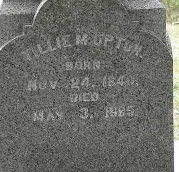 UPTON, TILLIE M. - Lorain County, Ohio | TILLIE M. UPTON - Ohio Gravestone Photos