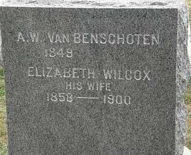WILCOX VAN BENSCHOTEN, ELIZABETH - Lorain County, Ohio | ELIZABETH WILCOX VAN BENSCHOTEN - Ohio Gravestone Photos