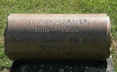 VAN WORMER, J. - Lorain County, Ohio | J. VAN WORMER - Ohio Gravestone Photos