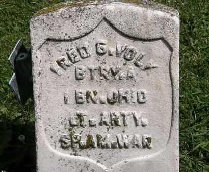 VOLK, FRED G. - Lorain County, Ohio | FRED G. VOLK - Ohio Gravestone Photos
