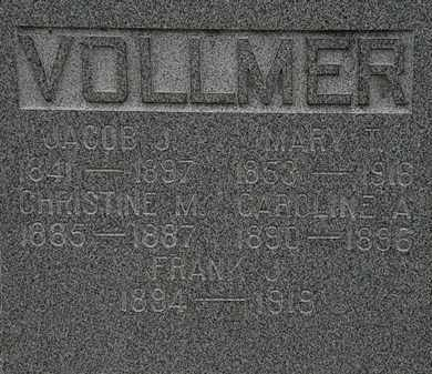 VOLLMER, MARY T. - Lorain County, Ohio | MARY T. VOLLMER - Ohio Gravestone Photos