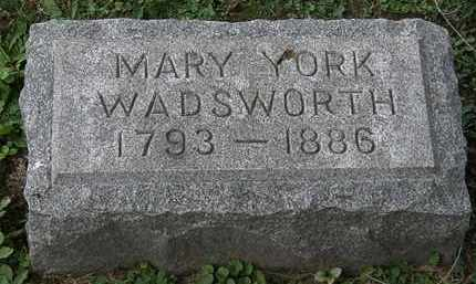 YORK WADSWORTH, MARY - Lorain County, Ohio | MARY YORK WADSWORTH - Ohio Gravestone Photos