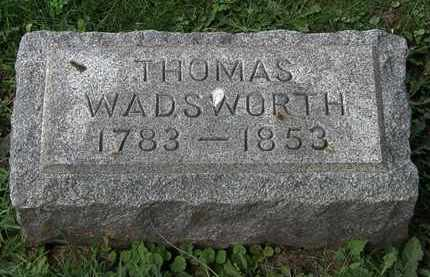 WADSWORTH, THOMAS - Lorain County, Ohio | THOMAS WADSWORTH - Ohio Gravestone Photos