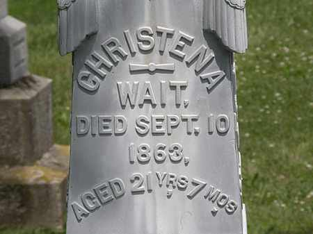 WAIT, CHRISTENA - Lorain County, Ohio | CHRISTENA WAIT - Ohio Gravestone Photos