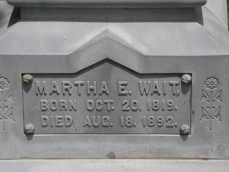 WAIT, MARTHA E. - Lorain County, Ohio | MARTHA E. WAIT - Ohio Gravestone Photos