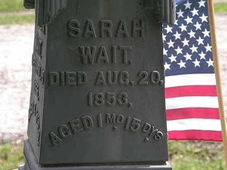 WAIT, SARAH - Lorain County, Ohio | SARAH WAIT - Ohio Gravestone Photos