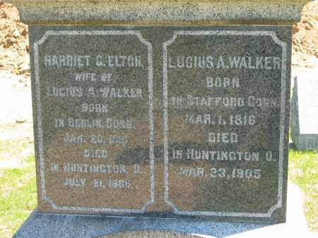 WALKER, LUCIUS A. - Lorain County, Ohio | LUCIUS A. WALKER - Ohio Gravestone Photos