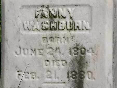 WASHBURN, FANNY - Lorain County, Ohio | FANNY WASHBURN - Ohio Gravestone Photos