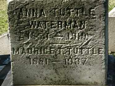 TUTTLE WATERMAN, ANNA - Lorain County, Ohio | ANNA TUTTLE WATERMAN - Ohio Gravestone Photos