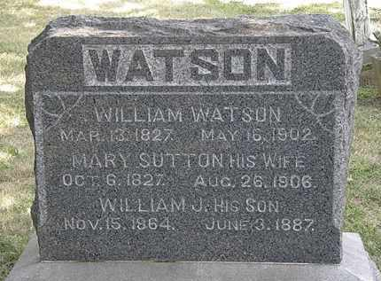 SUTTON WATSON, MARY - Lorain County, Ohio | MARY SUTTON WATSON - Ohio Gravestone Photos