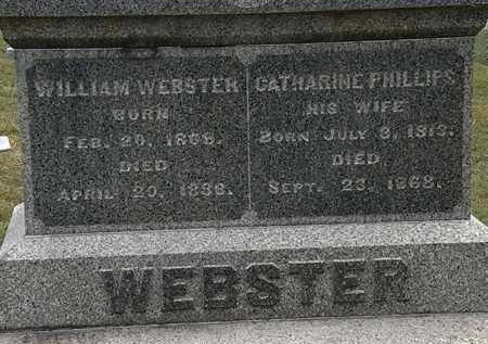 PHILLIPS WEBSTER, CATHARINE - Lorain County, Ohio | CATHARINE PHILLIPS WEBSTER - Ohio Gravestone Photos