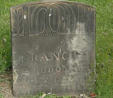 WEEDON, FRANCIS - Lorain County, Ohio | FRANCIS WEEDON - Ohio Gravestone Photos