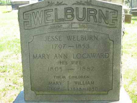 LOCKWARD WELBURN, MARY ANN - Lorain County, Ohio | MARY ANN LOCKWARD WELBURN - Ohio Gravestone Photos