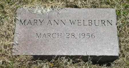 WELBURN, MARY ANN - Lorain County, Ohio | MARY ANN WELBURN - Ohio Gravestone Photos
