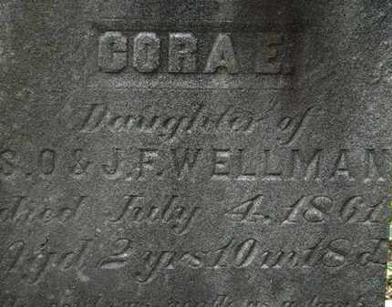 WELLMAN, CORA E. - Lorain County, Ohio | CORA E. WELLMAN - Ohio Gravestone Photos