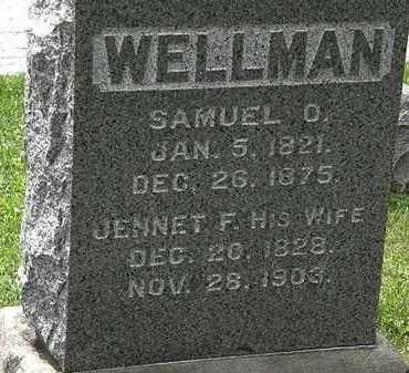 WELLMAN, JENNET F. - Lorain County, Ohio | JENNET F. WELLMAN - Ohio Gravestone Photos