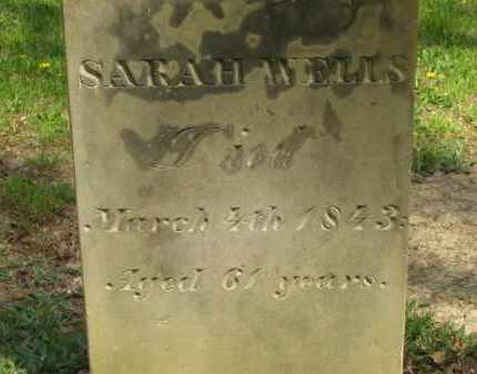 WELLS, SARAH - Lorain County, Ohio | SARAH WELLS - Ohio Gravestone Photos