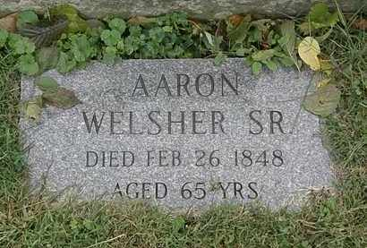WELSHER, AARON SR. - Lorain County, Ohio | AARON SR. WELSHER - Ohio Gravestone Photos