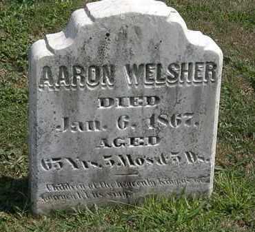 WELSHER, AARON - Lorain County, Ohio | AARON WELSHER - Ohio Gravestone Photos