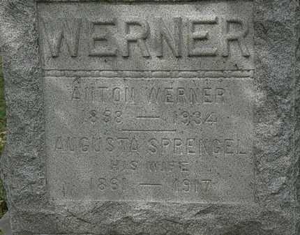 SPRENGEL WERNER, AUGUSTA - Lorain County, Ohio | AUGUSTA SPRENGEL WERNER - Ohio Gravestone Photos