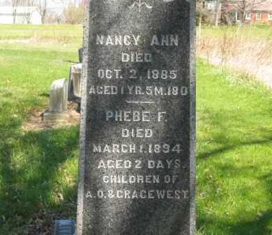 WEST, NANCY ANN - Lorain County, Ohio | NANCY ANN WEST - Ohio Gravestone Photos