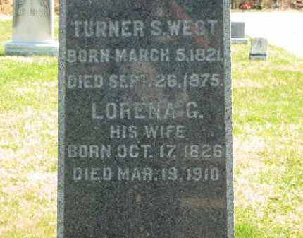 WEST, TURNER S. - Lorain County, Ohio | TURNER S. WEST - Ohio Gravestone Photos