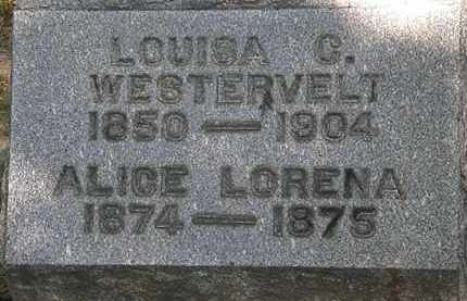 WESTERVELT, ALICE LORENA - Lorain County, Ohio | ALICE LORENA WESTERVELT - Ohio Gravestone Photos