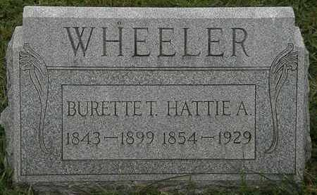 WHEELER, BURETTE T. - Lorain County, Ohio | BURETTE T. WHEELER - Ohio Gravestone Photos