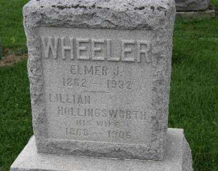 WHEELER, ELMER J. - Lorain County, Ohio | ELMER J. WHEELER - Ohio Gravestone Photos