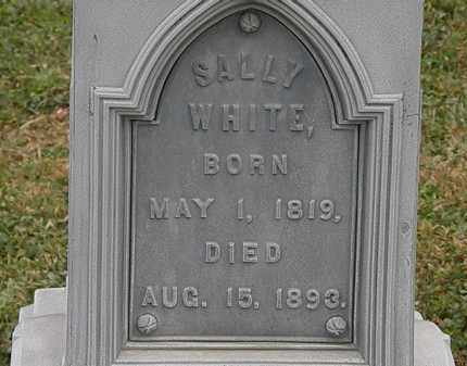 WHITE, SALLY - Lorain County, Ohio | SALLY WHITE - Ohio Gravestone Photos