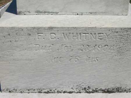 WHITNEY, F. C. - Lorain County, Ohio   F. C. WHITNEY - Ohio Gravestone Photos