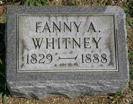 WHITNEY, FANNY A. - Lorain County, Ohio | FANNY A. WHITNEY - Ohio Gravestone Photos