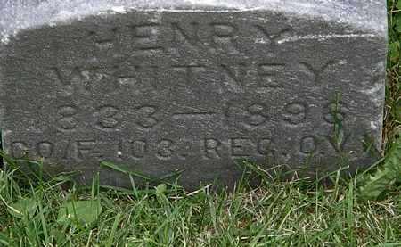 WHITNEY, HENRY - Lorain County, Ohio | HENRY WHITNEY - Ohio Gravestone Photos