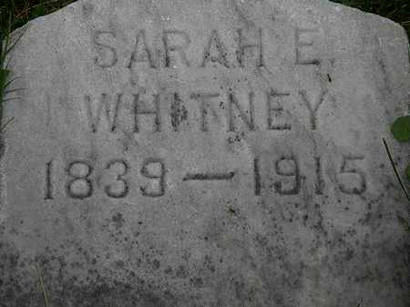 WHITNEY, SARAH E. - Lorain County, Ohio | SARAH E. WHITNEY - Ohio Gravestone Photos