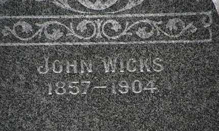 WICKS, JOHN - Lorain County, Ohio | JOHN WICKS - Ohio Gravestone Photos