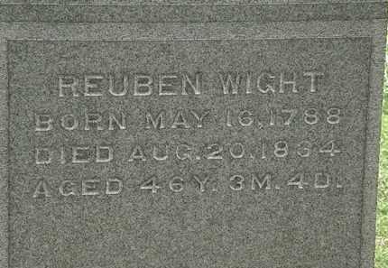 WIGHT, REUBEN - Lorain County, Ohio | REUBEN WIGHT - Ohio Gravestone Photos