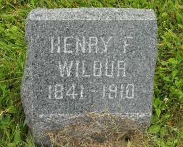 WILBUR, HENRY F. - Lorain County, Ohio | HENRY F. WILBUR - Ohio Gravestone Photos