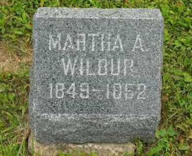 WILBUR, MARTHA A - Lorain County, Ohio | MARTHA A WILBUR - Ohio Gravestone Photos