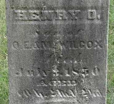 WILCOX, HENRY D. - Lorain County, Ohio | HENRY D. WILCOX - Ohio Gravestone Photos