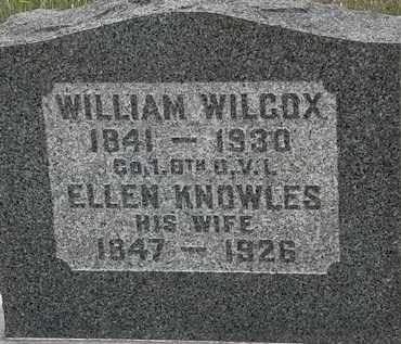 WILCOX, WILLIAM - Lorain County, Ohio | WILLIAM WILCOX - Ohio Gravestone Photos