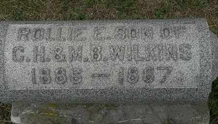 WILKINS, ROLLIE E. - Lorain County, Ohio | ROLLIE E. WILKINS - Ohio Gravestone Photos