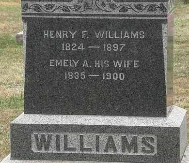 WILLIAMS, HENRY F. - Lorain County, Ohio | HENRY F. WILLIAMS - Ohio Gravestone Photos