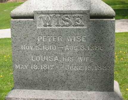 WISE, PETER - Lorain County, Ohio | PETER WISE - Ohio Gravestone Photos