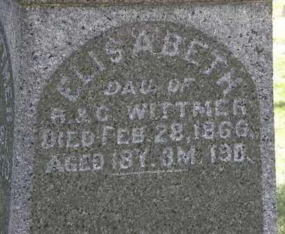 WITTMER, ELISABETH - Lorain County, Ohio | ELISABETH WITTMER - Ohio Gravestone Photos