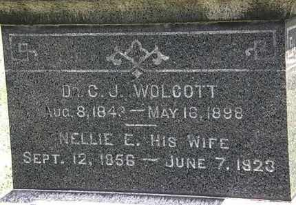 WOLCOTT, NELLIE E. - Lorain County, Ohio | NELLIE E. WOLCOTT - Ohio Gravestone Photos